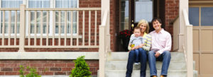 Header - Personal Insurance Family Sitting on the Stoop